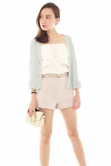 193d65ef47ec Off Button Down Knitted Cardigan in Powder Blue