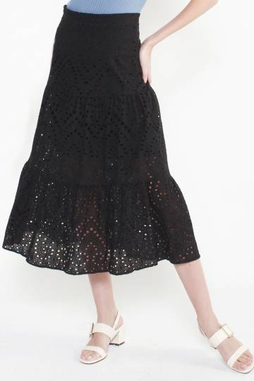 9800 EMBROIDERED MAXI SKIRT