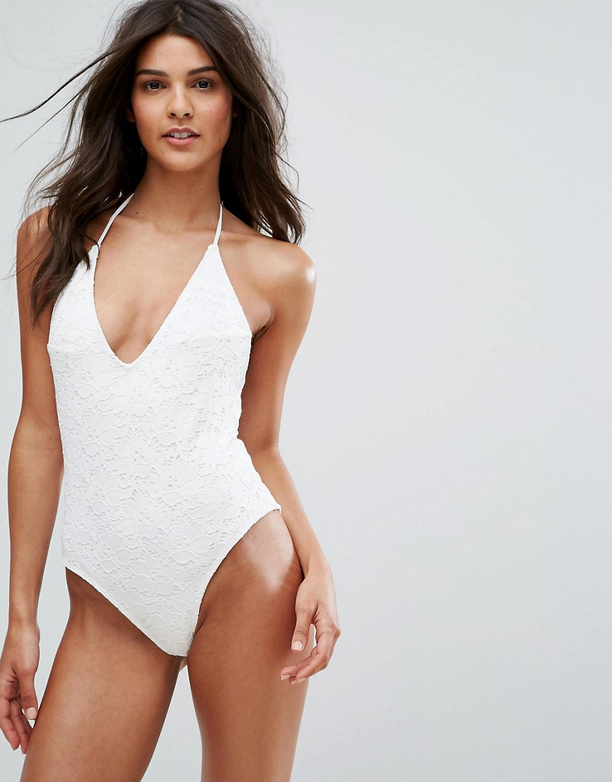 fbe5a09281f Pimkie Lace Low Back Swimsuit - ShopperBoard