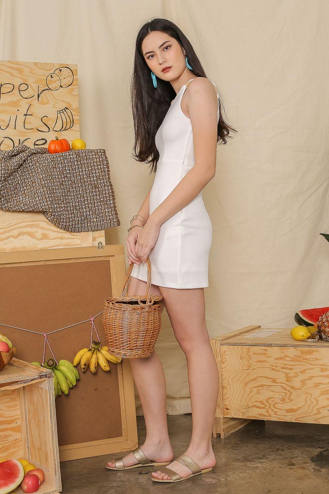 TESSA TOGA DRESS (WHITE)