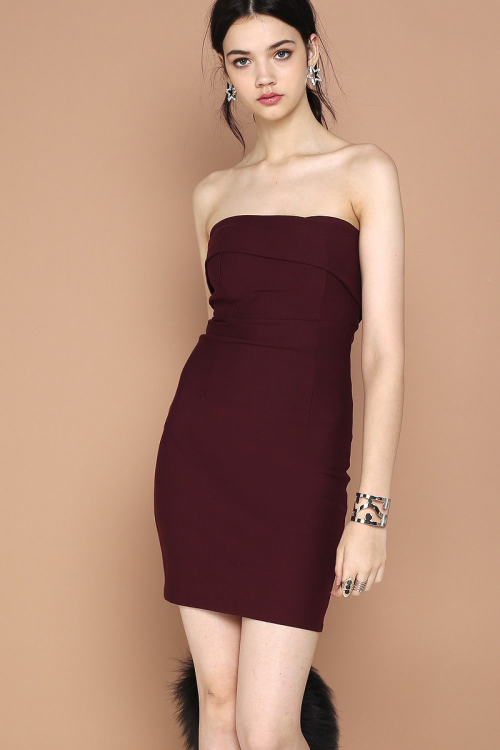 a9f1be0203a MISHA COCKTAIL TUBE DRESS (RED WINE). From SuperGurl