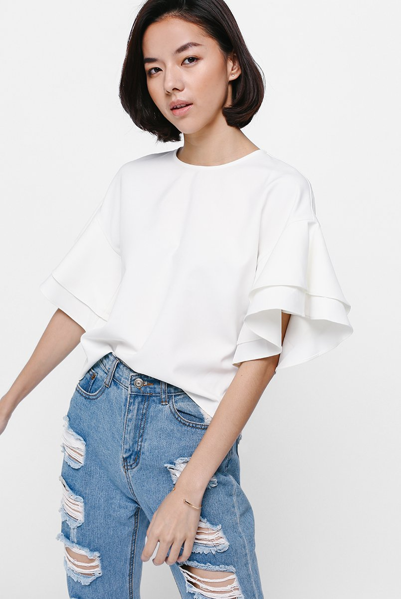 Gwendolyn Layered Ruffle Sleeve Top