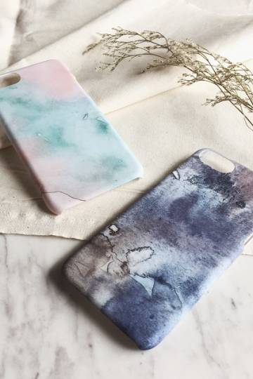iPhone 6/7 Watercolour Texture Matte Cover