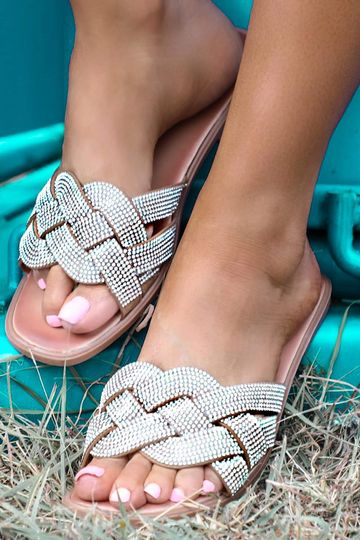 Braided Bling Sandals