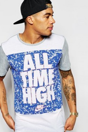 Nike T-Shirt With 'All Time High' Slogan