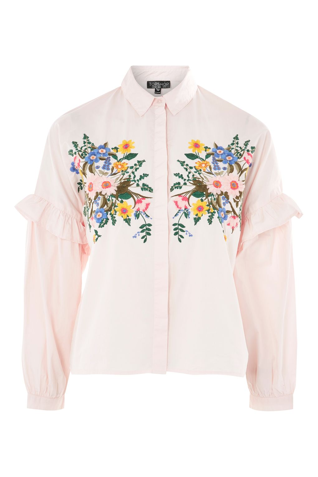 Floral embroidered shirt shopperboard