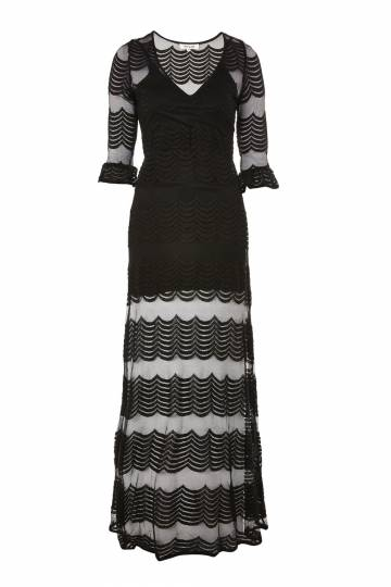 **Light Music Scalloped Maxi Dress by WYLDR