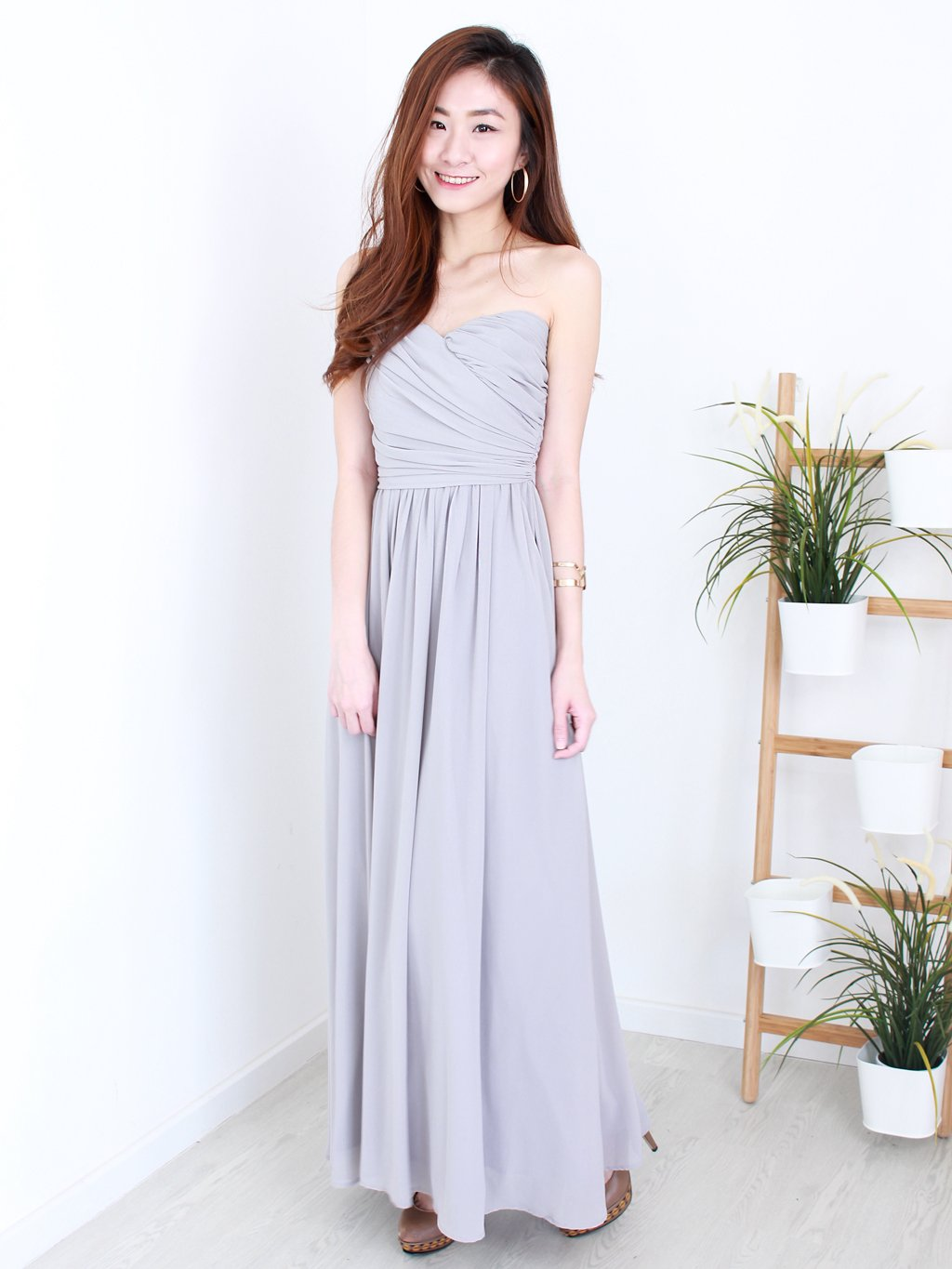 Kristen Maxi Dress in Grey | *MADEBYWC