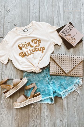 Chin Up Buttercup Graphic Top