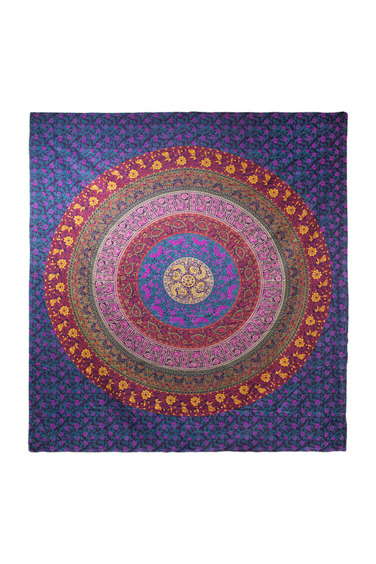 medallion blue sparkly ombre color com royalfurnish product mandala and trippy flower wall tapestry gold