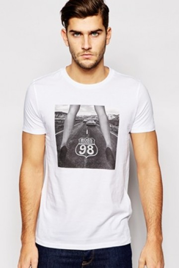 BOSS Orange T-Shirt with Route 98 Print