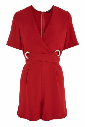 TALL Eyelet Belt Playsuit