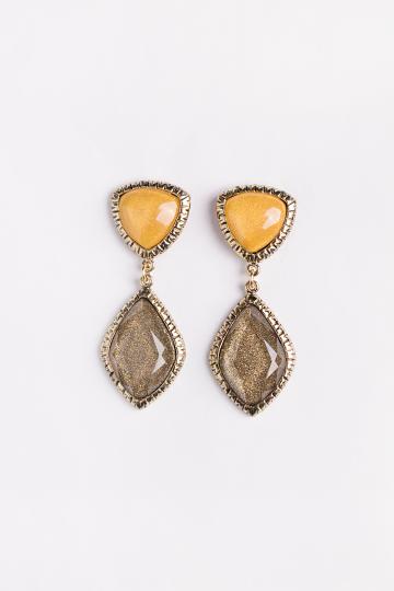 Contrast Jewel Earrings