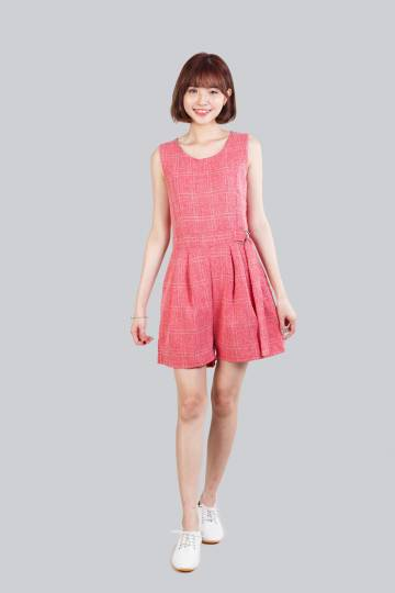 CADY PLAYSUIT CHECKERED PINK