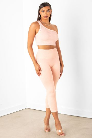Peach Cropped Leggings