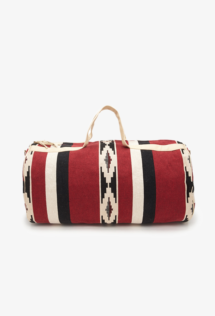 992b35f4727c Southwestern-Patterned Duffle Bag. From Forever 21