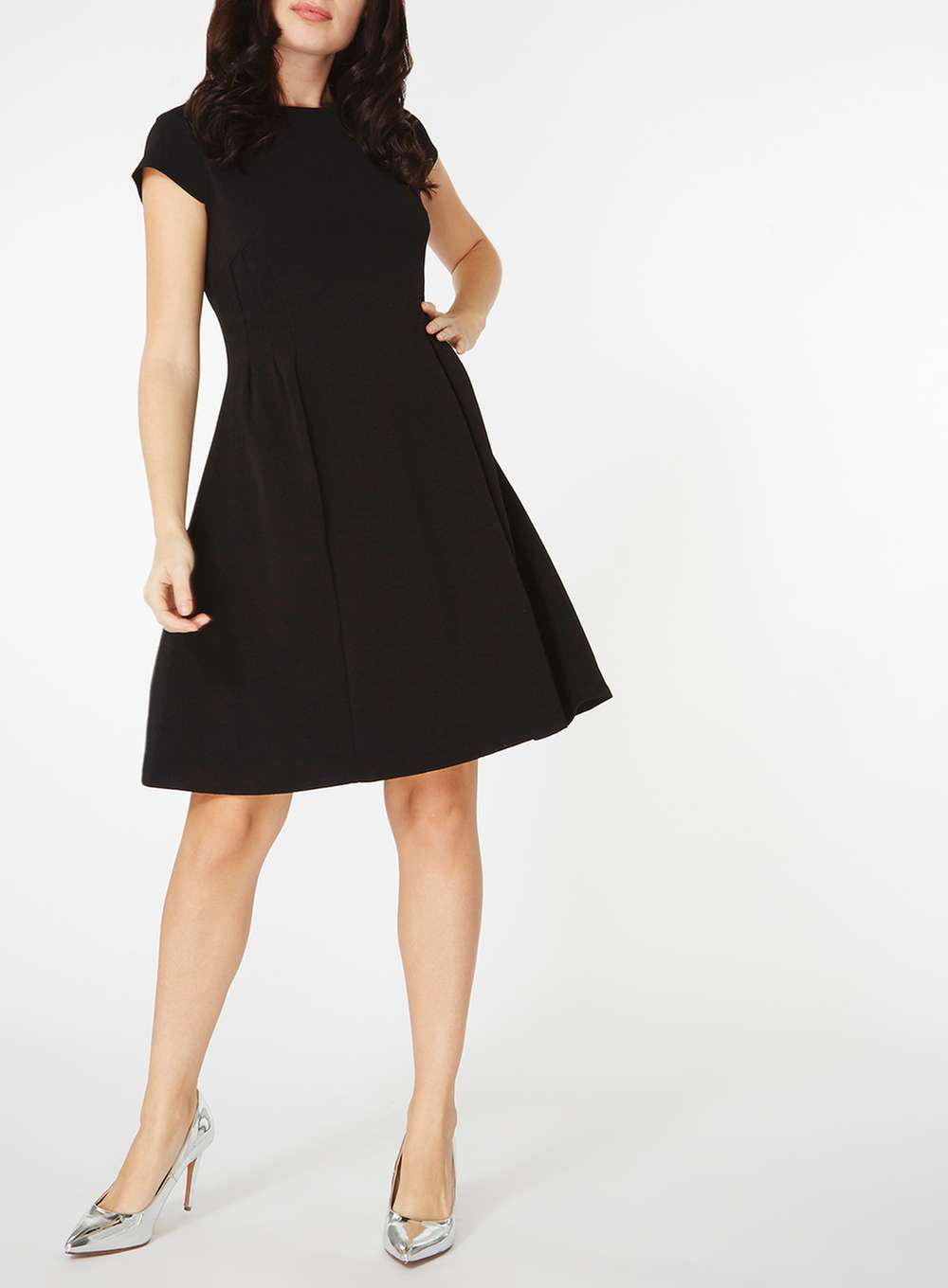 62a9042a6ed Black Seam Fit and Flare Dress - ShopperBoard