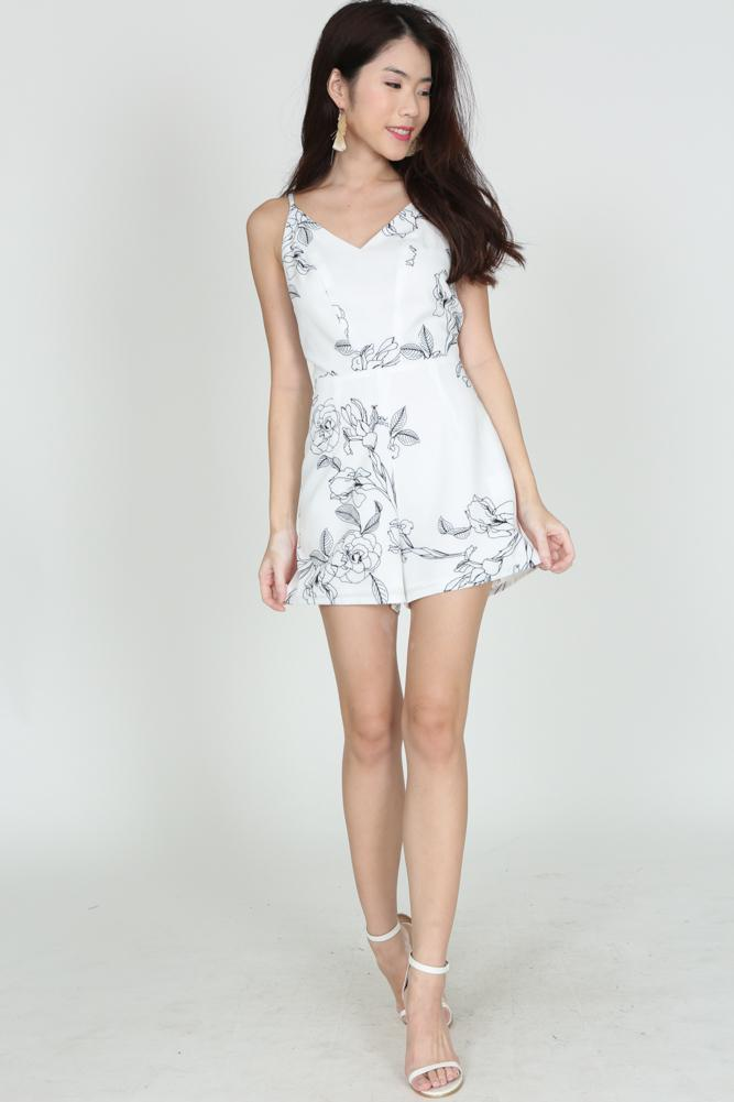 Willow Cami Romper in White (2225666WHI)
