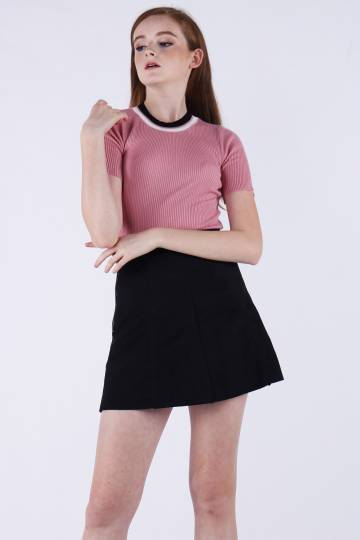 Roman Knitted Top in Pink