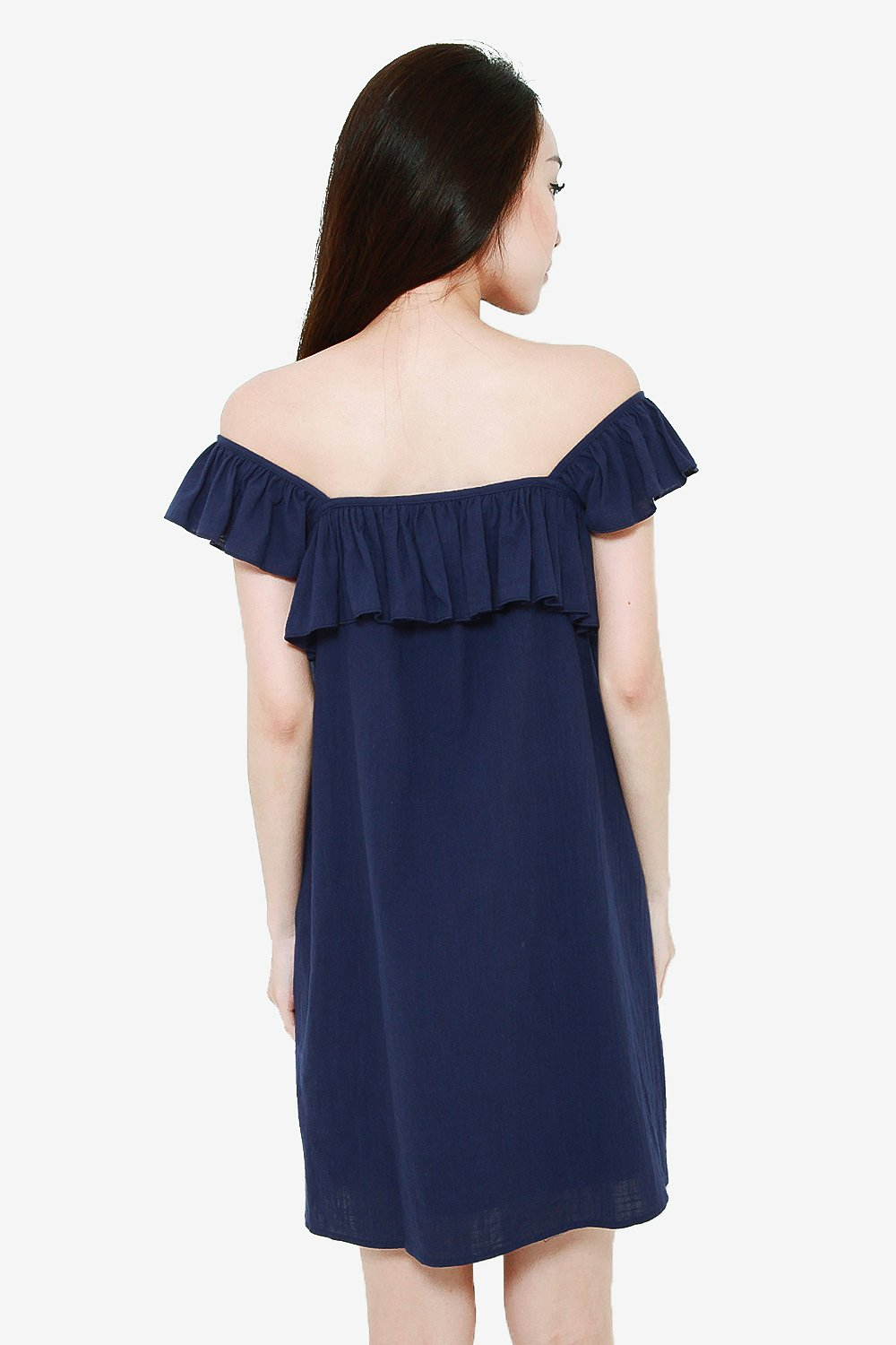 KATE NAVY FLUTTER SUNDRESS