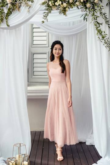 *BACKORDER* Seas The Moment Pleated Tulle Dress (Blush Pink)