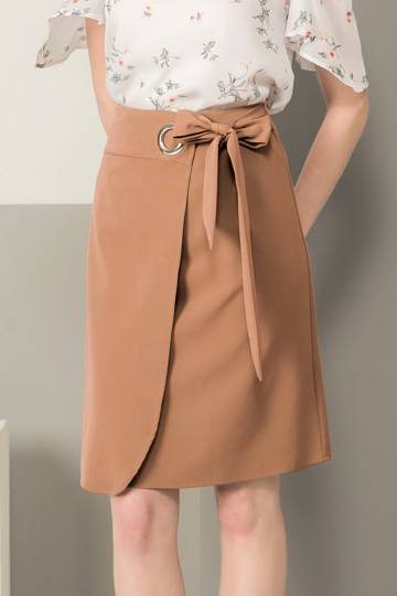 KODZ - Foldover Ring Detail Skirt
