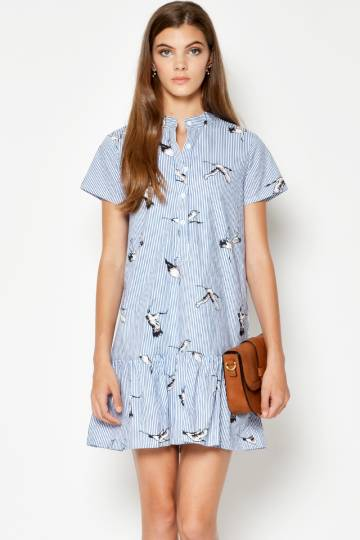 KAREL CRANE SHIRT DRESS