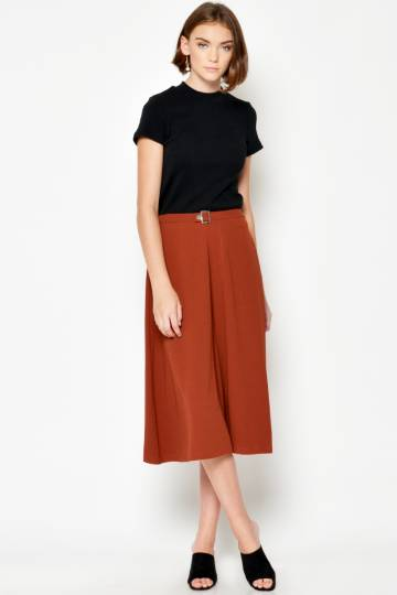 BACKORDER JENINE FLARE PANTS RUST