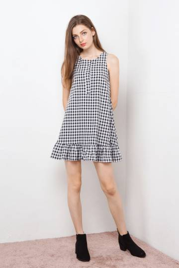 ELSA SWING DRESS GINGHAM