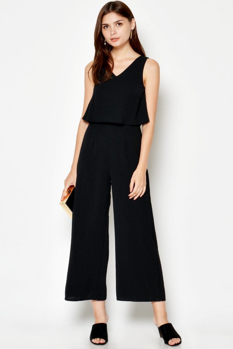 9ef9872f9699 EVRA LAYERED JUMPSUIT BLACK. From Love   Bravery