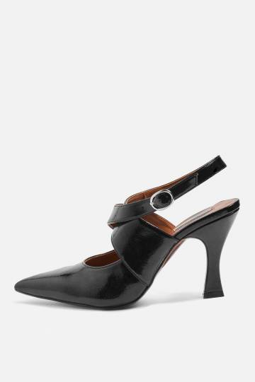 GALACTIC Flare Heel Court Shoes