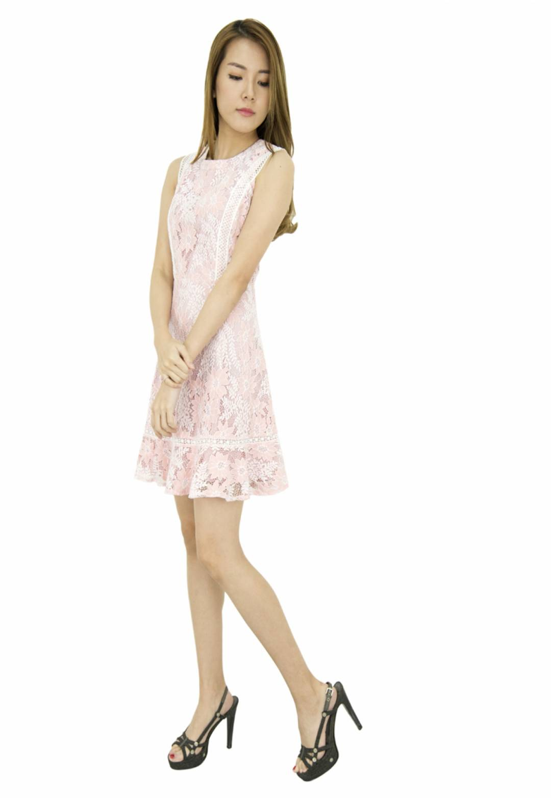 Amelia Classic  Fit and Flare Laces Dress