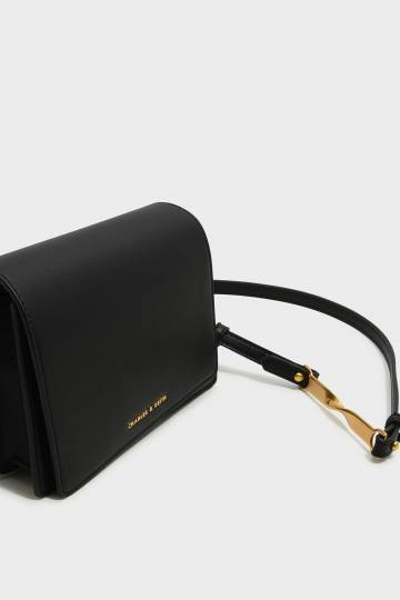 Asymmetric Front Flap Bag