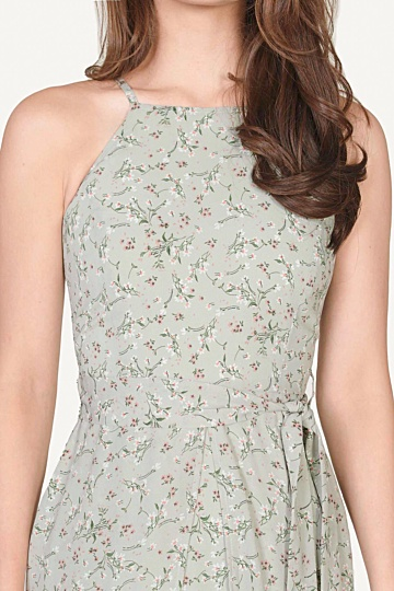 Philosophy Floral Dress - Pale Seafoam