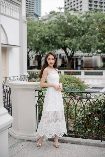 Vow To Wow Organza Dress (White)