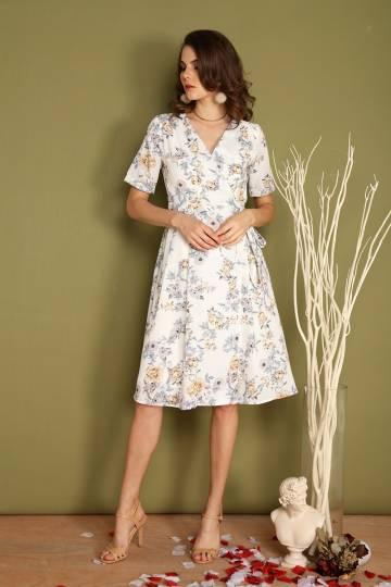 Garden Wrap Midi Dress