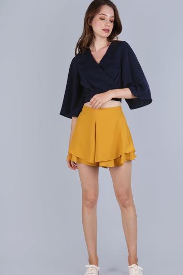 79ebdd70e8e5c Jordyn Flare Sleeve Top (Navy) - ShopperBoard