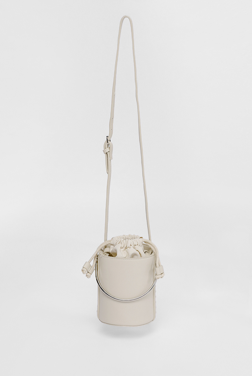 Boliena Ring Handle Bucket Bag