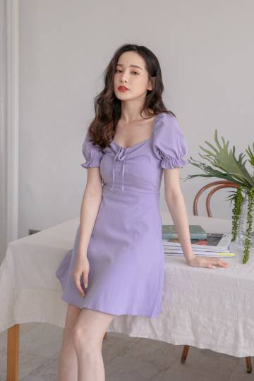 Sherry Sweetheart Dress in Lilac