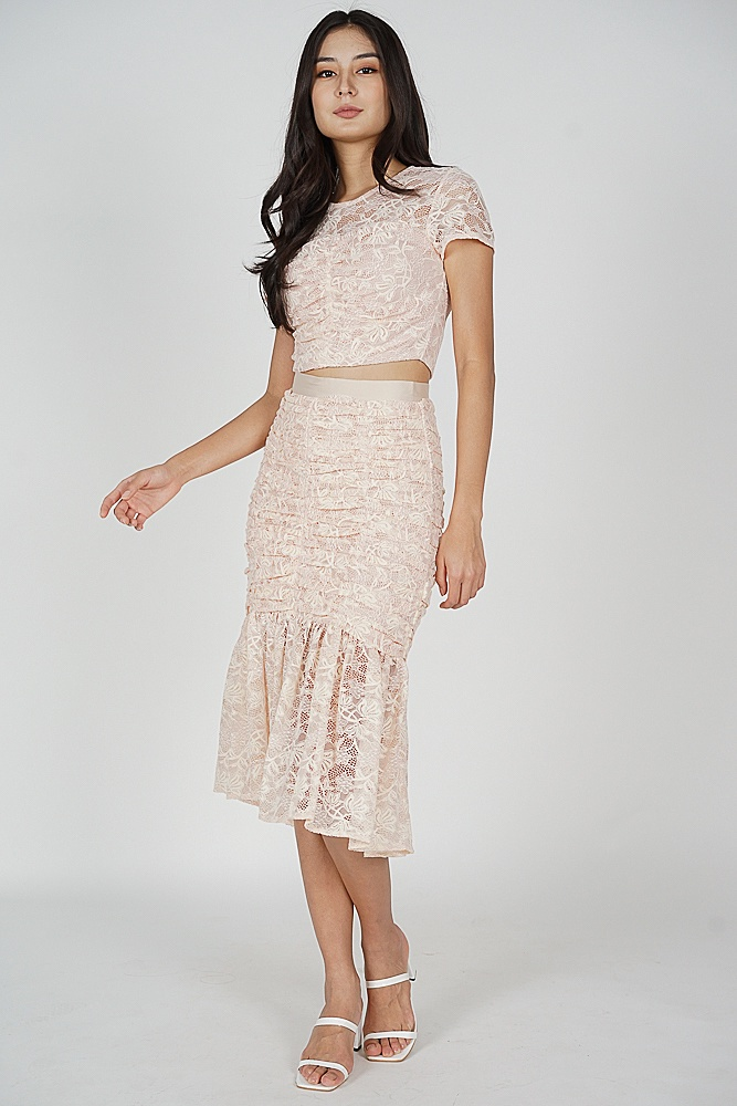 Raeah Lace Skirt in Pink - Arriving Soon