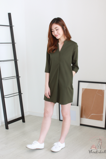 Anders Shirt Dress in Olive   *MADEBYWC