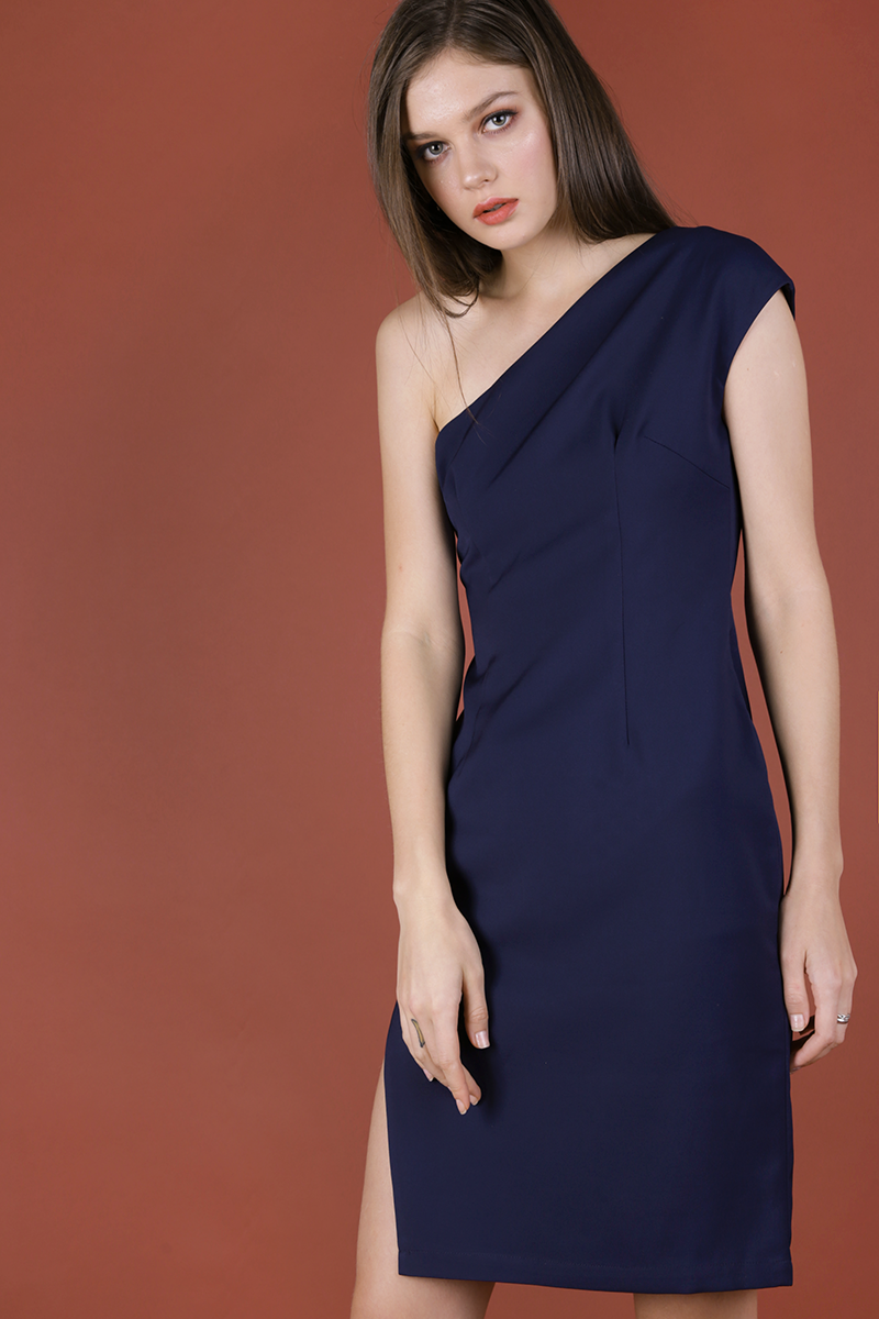 Beau Toga Dress (Navy)