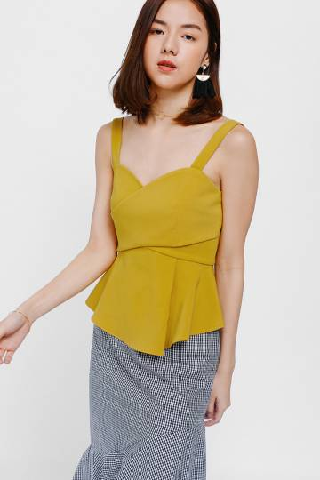 Ziazyn Pleat Peplum Top