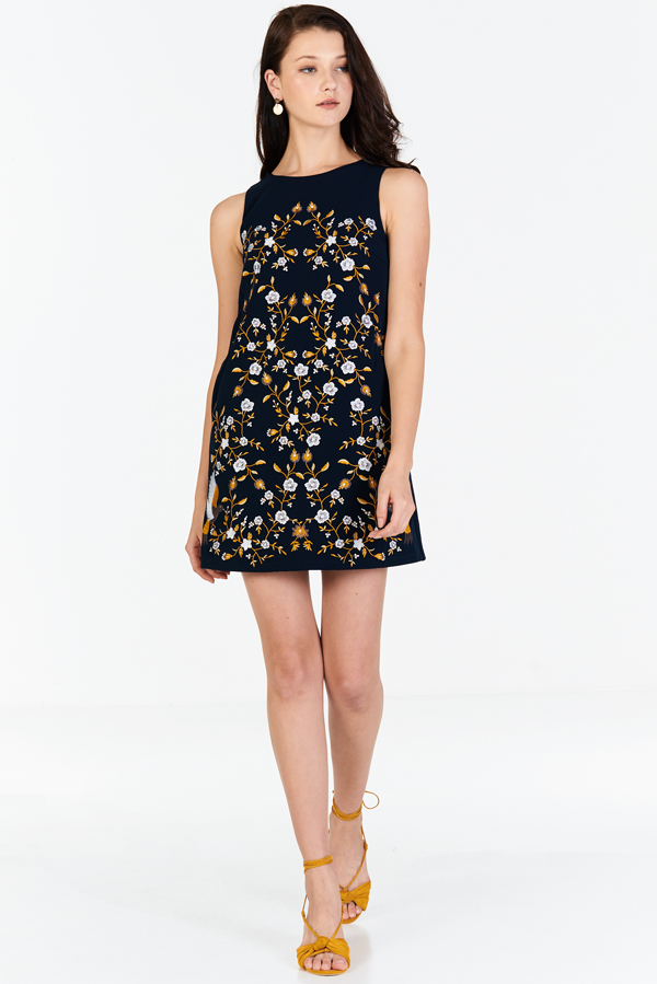 Jonna Embroidered Shift Dress