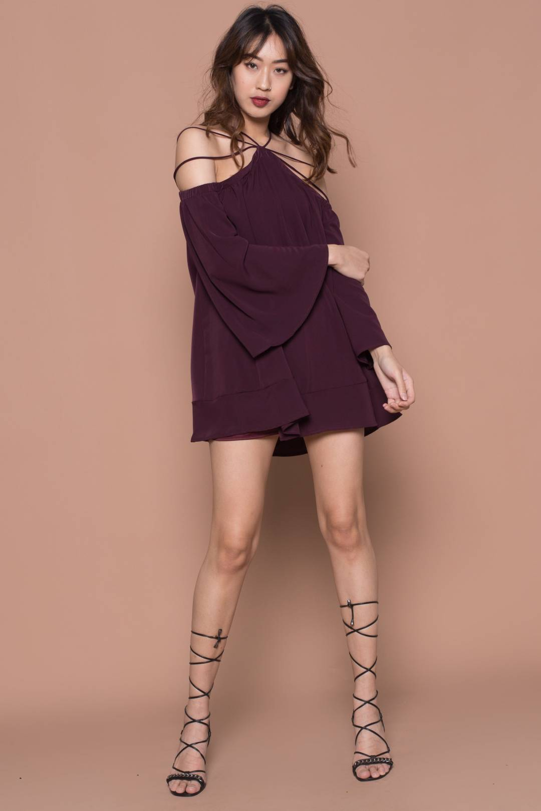 Webbed Dress in Plum