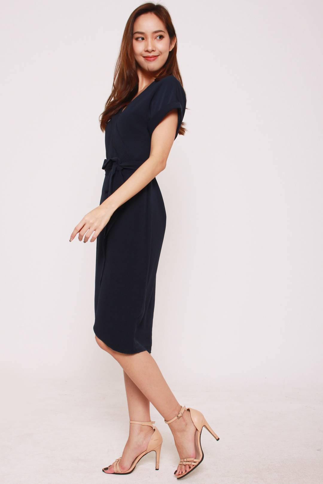 Kansas V Dress in Navy Blue