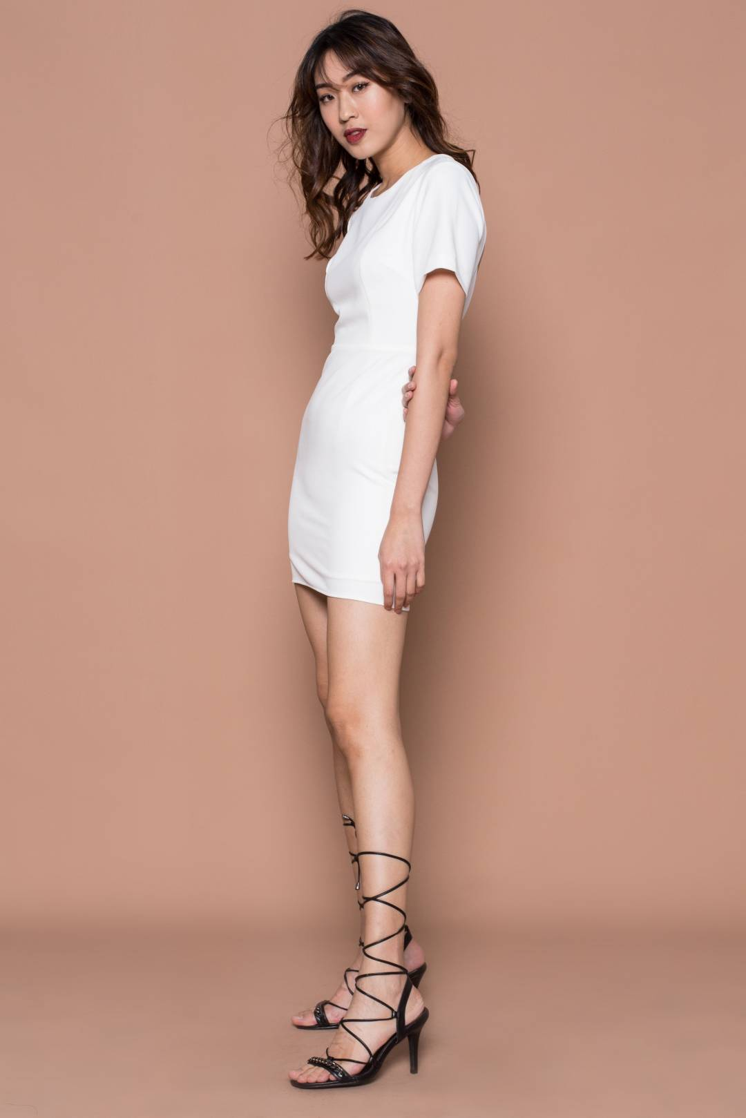 No Going Back Dress in White