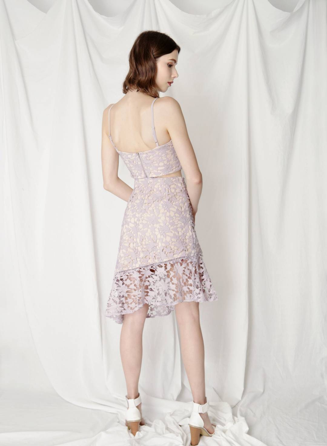 Oath Crochet Lace Skirt (Lilac)