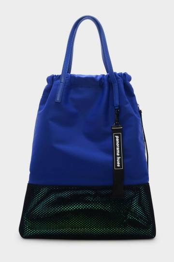 Mesh Detail Drawstring Backpack