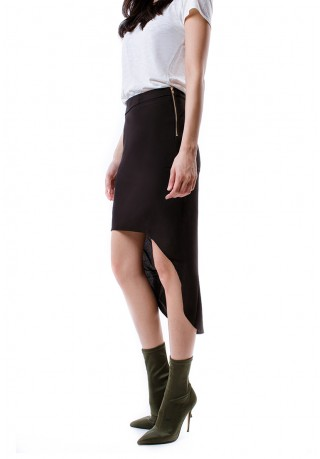 Cora Asymmetric skirt (black)